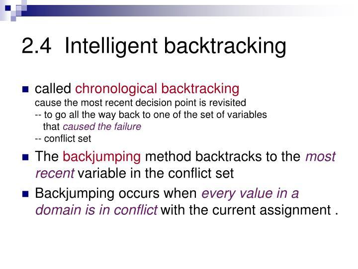 2.4  Intelligent backtracking