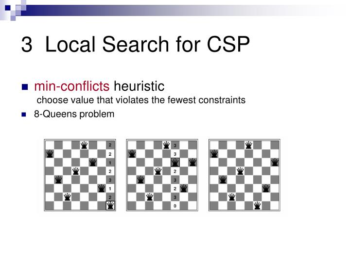 3  Local Search for CSP