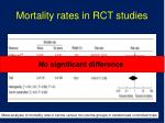 mortality rates in rct studies
