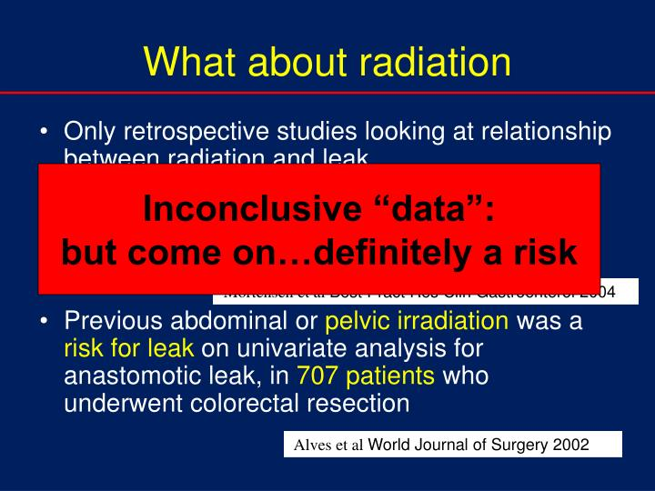What about radiation