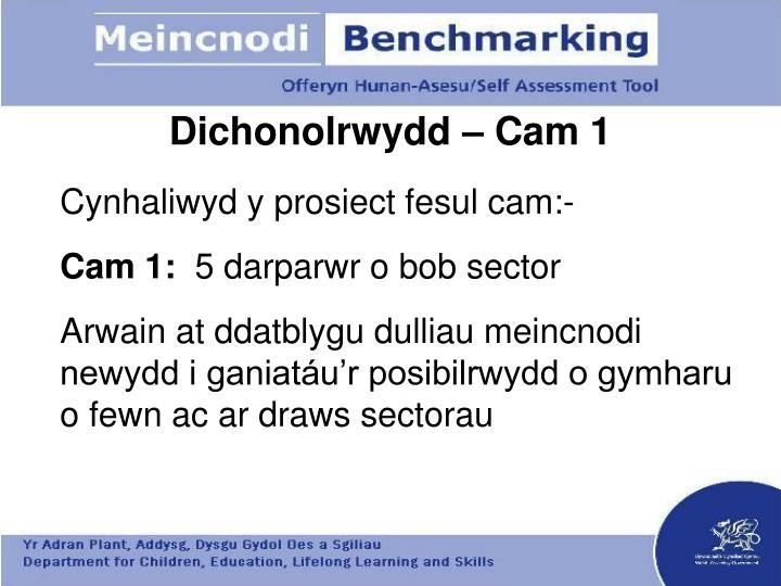 Dichonolrwydd – Cam 1