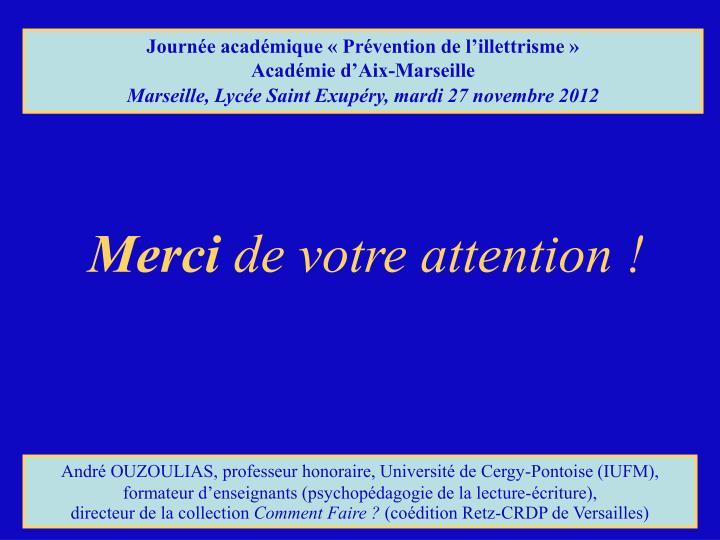 Journée académique «Prévention de l'illettrisme»