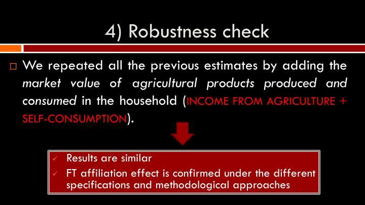 4) Robustness check