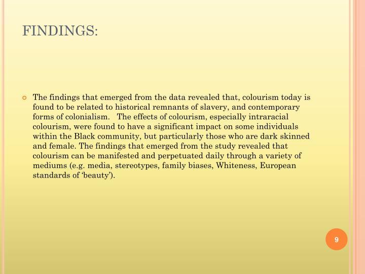 FINDINGS: