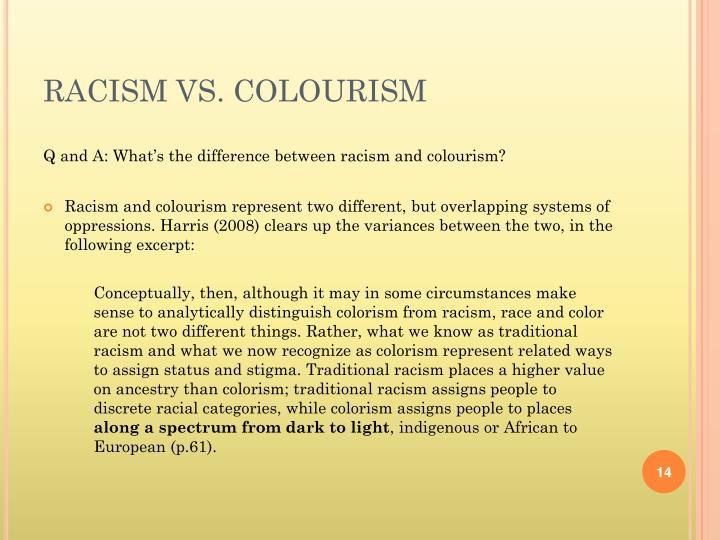 RACISM VS. COLOURISM