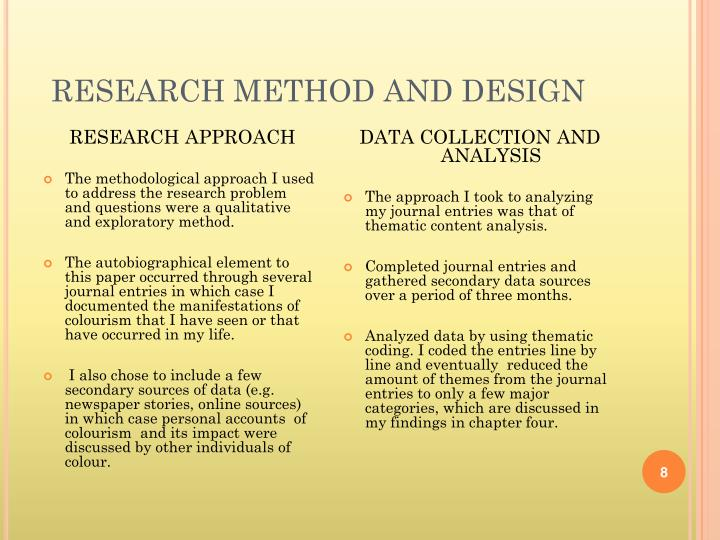 RESEARCH METHOD AND DESIGN