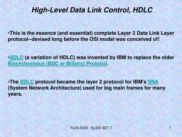High-Level Data Link Control, HDLC