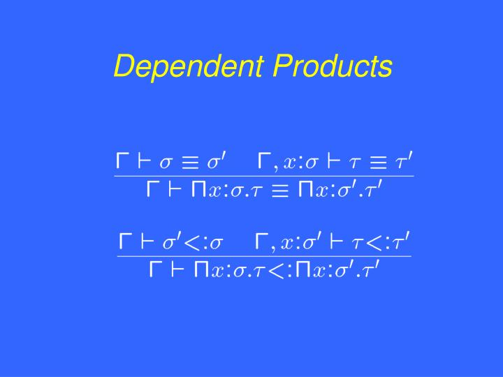 Dependent Products