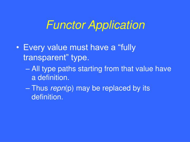 Functor Application