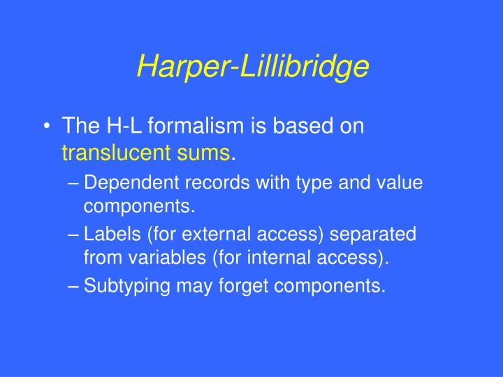 Harper-Lillibridge