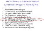 key elements design for reliability plan1