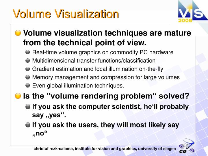 Volume visualization