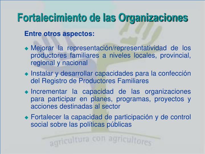 Fortalecimiento de las Organizaciones