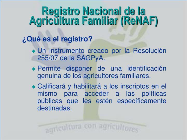 Registro Nacional de la
