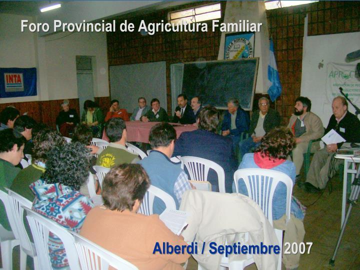 Foro Provincial de Agricultura Familiar