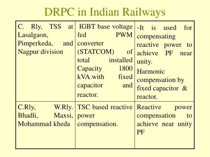 DRPC in Indian Railways