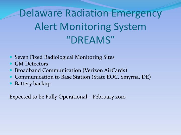 Delaware Radiation Emergency Alert Monitoring System