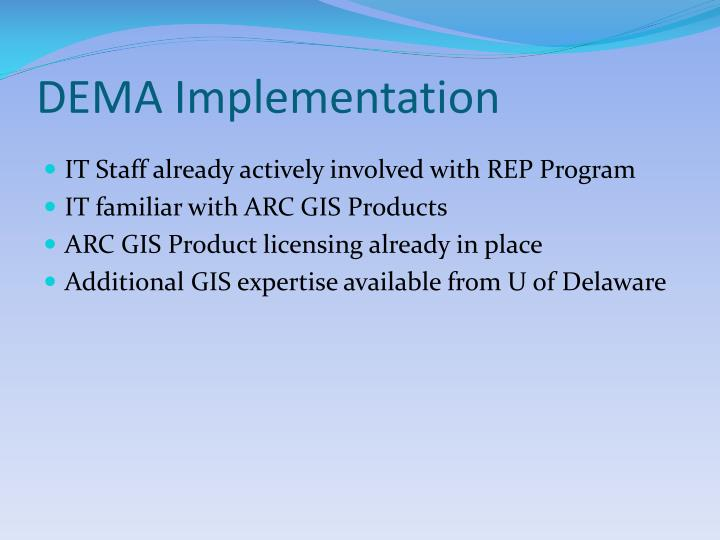 DEMA Implementation