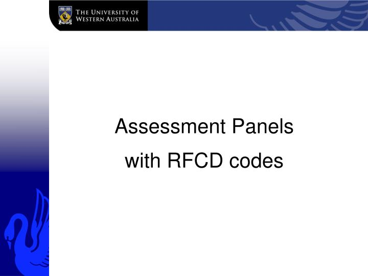 Assessment Panels