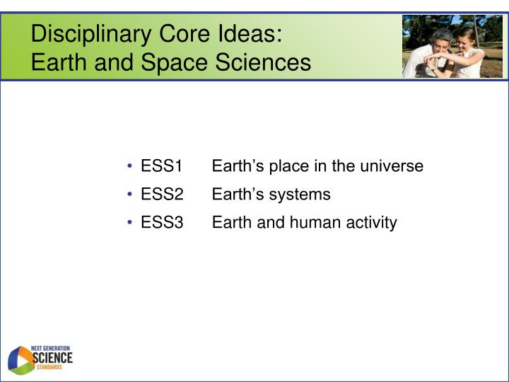 Disciplinary Core Ideas: