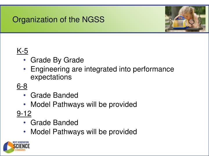 Organization of the NGSS