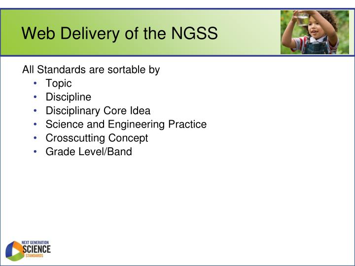 Web Delivery of the NGSS