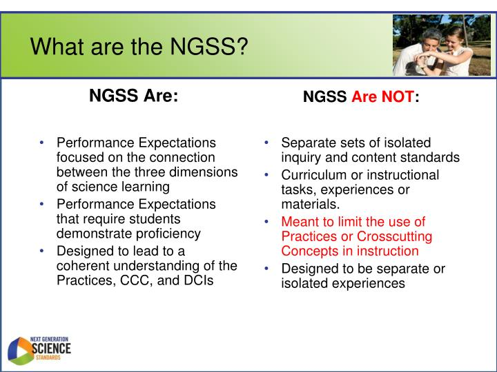 What are the NGSS?