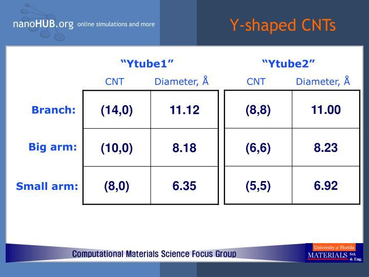 Y-shaped CNTs