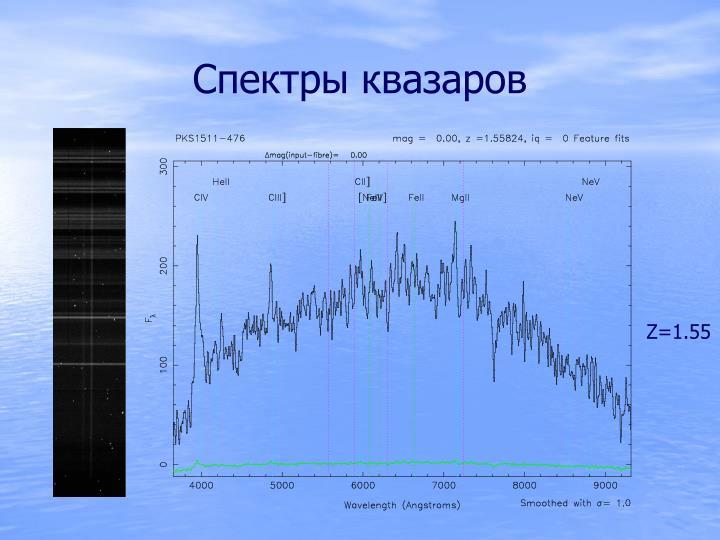 Спектры квазаров