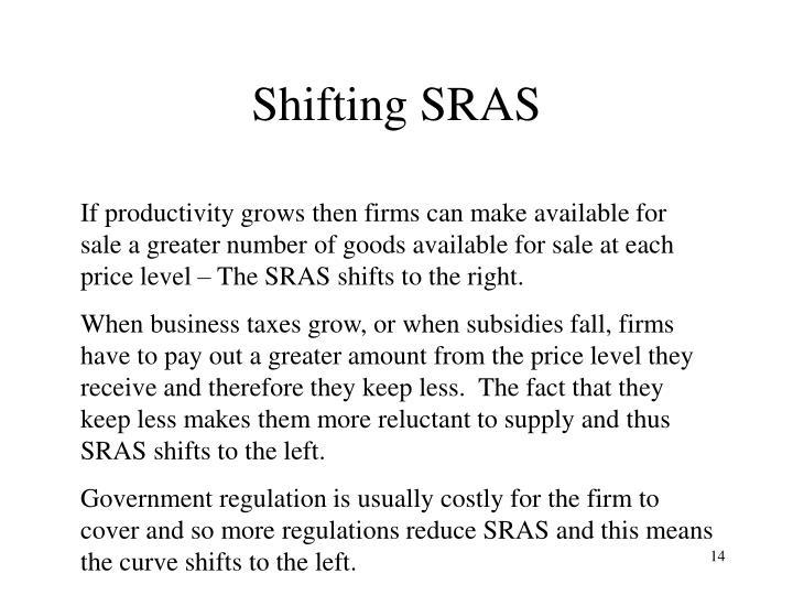 Shifting SRAS