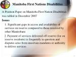 manitoba first nations disabilities