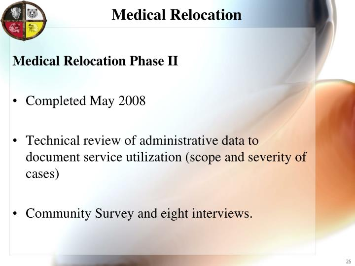 Medical Relocation