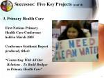 successes five key projects cont d1