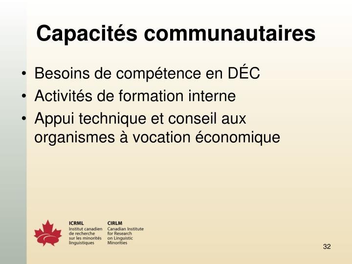 Capacités communautaires