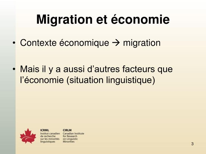Migration et économie