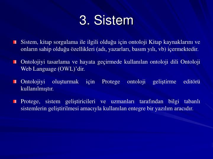 3. Sistem