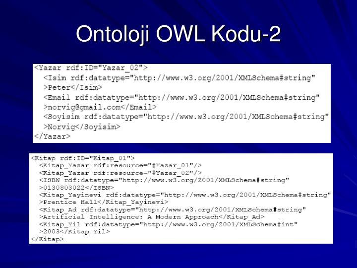 Ontoloji OWL Kodu-2