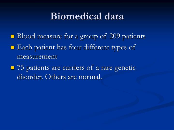 Biomedical data