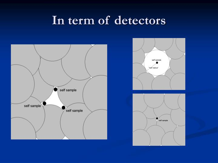 In term of detectors