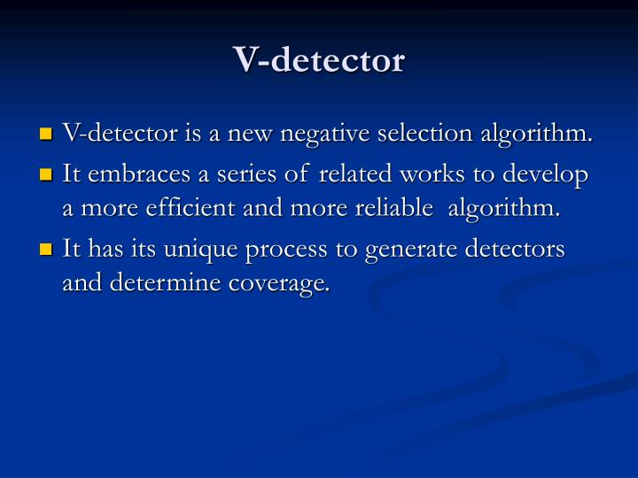 V-detector