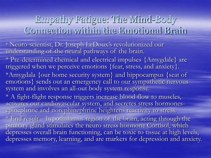 Empathy Fatigue: The Mind-Body Connection within the Emotional Brain