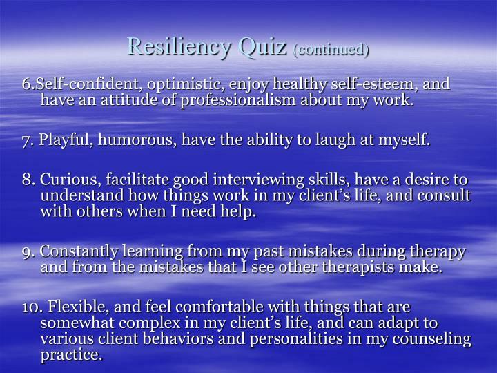 Resiliency Quiz