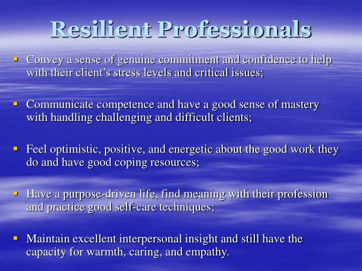 Resilient Professionals