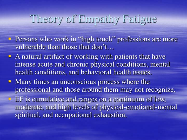 Theory of Empathy Fatigue