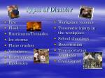 types of disaster