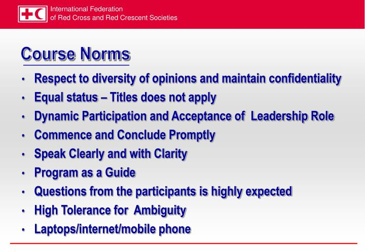 Course Norms