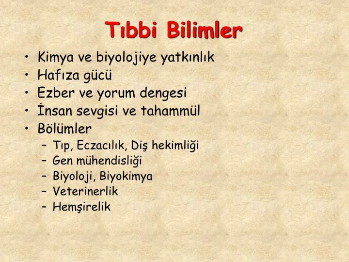 Tbbi Bilimler