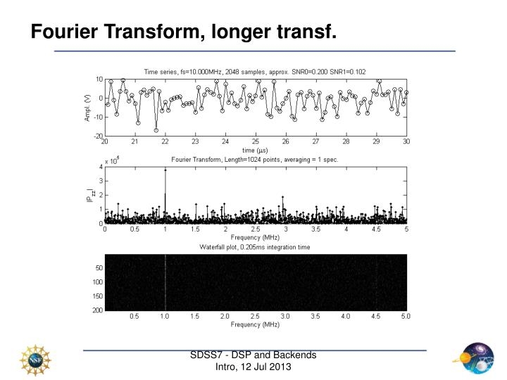 Fourier Transform, longer transf.