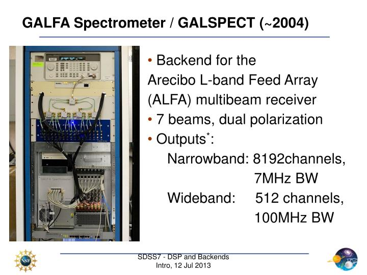 GALFA Spectrometer / GALSPECT (~2004)