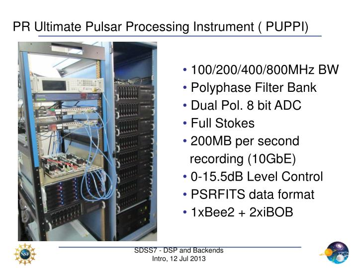 PR Ultimate Pulsar Processing Instrument ( PUPPI)